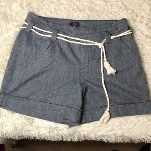 NYDJ high rise belted shorts in size 12